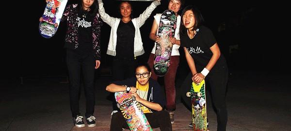 Chinese Girls skateboarding team – Psychos 国内滑板品牌 Psychos Skateboards 女滑手队伍