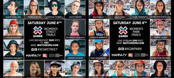 X Games 2016 女子组赛事直播时间